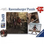 Ravensburger-09303 3 Puzzles - Une Cloche pour Ursli