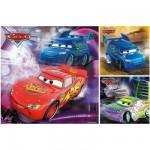 Ravensburger-09305 3 Puzzles - Cars : Sur la piste de course