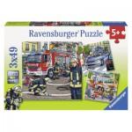 Ravensburger-09335 3 Puzzles - Les Secours