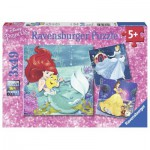 Ravensburger-09350 3 Puzzles - Disney Princesses