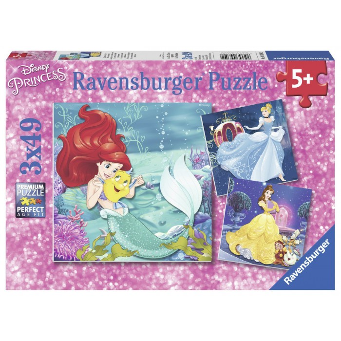 3 Puzzles - Disney Princesses