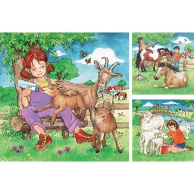 Ravensburger-09351 3 Puzzles - Mes Animaux Préférés