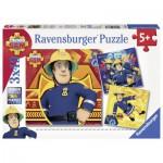 Ravensburger-09386 3 Puzzles - Sam le Pompier