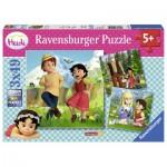 Ravensburger-09405 3 Puzzles - Heidi et ses Amis