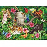 Puzzle  Ravensburger-09533 Ambiance tropicale