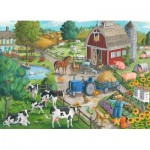 Puzzle  Ravensburger-09640 Vie à la Ferme