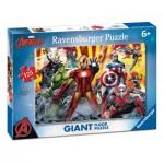Ravensburger-09783 Puzzle Géant de Sol - Avengers