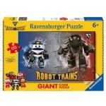 Ravensburger-09787 Puzzle Géant de Sol - Robot Trains