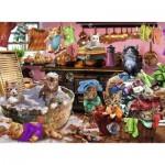 Puzzle  Ravensburger-10031 Pièces XXL - Chats dans la Cuisine