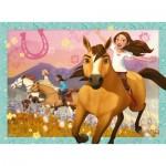 Puzzle  Ravensburger-10055 Pièces XXL - Dreamworks - Spirit Riding Free