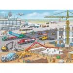 Puzzle  Ravensburger-10624 Chantier de Construction à l'Aéroport