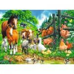 Puzzle  Ravensburger-10689 Pièces XXL - Rassemblement d'Animaux