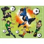 Puzzle  Ravensburger-10693 Pièces XXL - Dans la Fièvre du Football