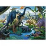 Puzzle  Ravensburger-10740 Pièces XXL - Au Pays des Géants, les Dinosaures