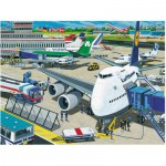 Puzzle  Ravensburger-10763 Pièces XXL - Aérodrome