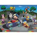 Puzzle  Ravensburger-10871 Mickey et ses amis font du Skateboard