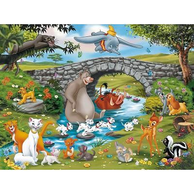 Puzzle Ravensburger-10947 La famille d'animal friends