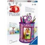 Ravensburger-11175 Puzzle 3D - Pot à Crayons - Chevaux