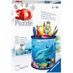 Ravensburger-11176 Puzzle 3D - Pot à Crayons - Monde Sous-marin