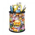 Ravensburger-11217 Puzzle 3D - Pot à Crayons - Emoji