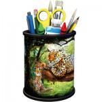 Ravensburger-11263 Puzzle 3D - Pot à Crayons - Tiger