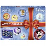 Ravensburger-11676 Puzzle 3D - Calendrier de l'Avent Disney Princess