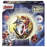 Ravensburger-11798 Puzzle 3D avec LED - Avengers