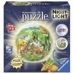Ravensburger-11822 Puzzle 3D avec LED - Dinosaures