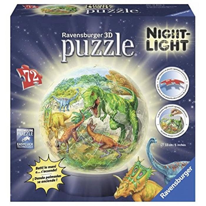 Puzzle 3D avec LED - Dinosaures