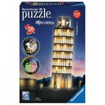 Ravensburger-12515 Puzzle 3D avec LED - Tour de Pise by Night