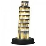 Ravensburger-12521 Puzzle 3D avec LED - Tour de Pise by Night
