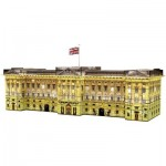 Ravensburger-12529 Puzzle 3D - Buckingham Palace by Night