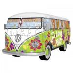 Ravensburger-12532 Puzzle 3D - Volkswagen T1 - Hippie Style