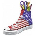 Ravensburger-12549 Puzzle 3D - Pot à Crayons - Sneaker American
