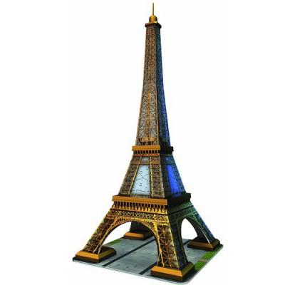 Ravensburger-12556 Puzzle 3D - Paris, La Tour Eiffel