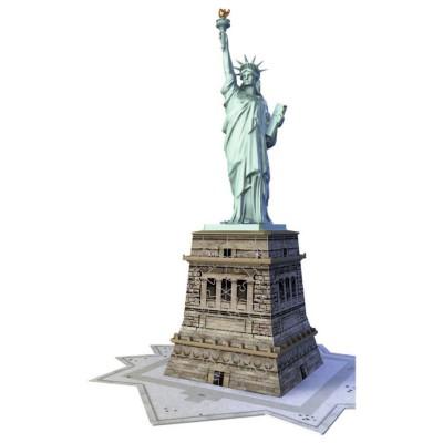 Ravensburger-12584 Puzzle 3D - New-York : Statue de la Liberté