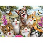Puzzle  Ravensburger-12620 Pièces XXL - Friendly Felines