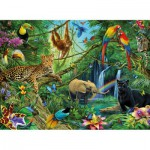 Puzzle  Ravensburger-12660 Animaux de la jungle
