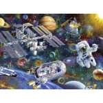 Puzzle  Ravensburger-12692 Pièces XXL - Station Spatiale internationale