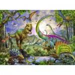 Puzzle  Ravensburger-12718 Royaume des Dinosaures