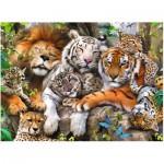 Puzzle  Ravensburger-12721 Pièces XXL - Big Cat Nap