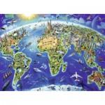 Puzzle  Ravensburger-12722 Pièces XXL - Carte du Monde