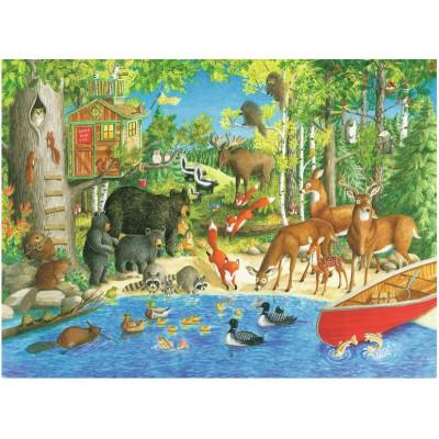 Puzzle Ravensburger-12740 Pièces XXL - Woodland Friends