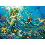 Puzzle  Ravensburger-12872 Pièces XXL avec des Paillettes - Disney Princess