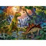 Puzzle  Ravensburger-12888 Pièces XXL - L'oasis des Dinosaures