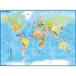 Puzzle  Ravensburger-12890 Pièces XXL - Carte du Monde Enfant