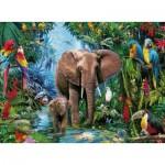Puzzle  Ravensburger-12901 Pièces XXL - Éléphants