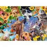 Puzzle  Ravensburger-12902 Pièces XXL - Funny Farm Animals