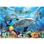 Puzzle  Ravensburger-13052 Le bal des dauphins