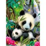 Puzzle  Ravensburger-13065 Charmant panda